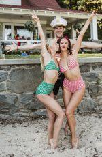 JULIANNE HOUGH and NINA DOBREV in Bikinis, 01/10/2018 Instagram Pictures