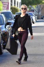 JULIANNE HOUGH Leaves a Gym in Los Angeles 01/26/2018