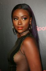 JUSTINE SKYE at 2018 Spotify Best New Artists Party in New York 01/25/2018