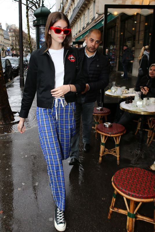 KAIA GERBER Out and About in Paris 01/20/2018