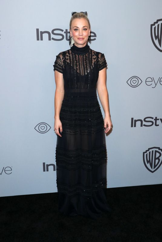 KALEY CUOCO at Instyle and Warner Bros Golden Globes After-party in Los Angeles 01/07/2018
