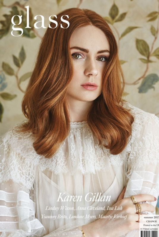 KAREN GILLAN for Glass Magazine, Summer 2017 Issue