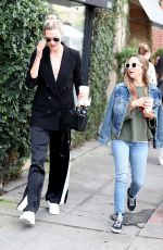 KARLIE KLOSS and JENNIFER MEYER at Alfred Coffee in Los Angeles 01/16/2018