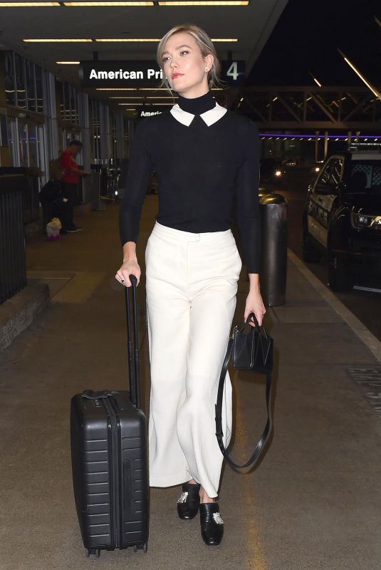 KARLIE KLOSS at LAX Airport in Los Angeles 01/11/2018