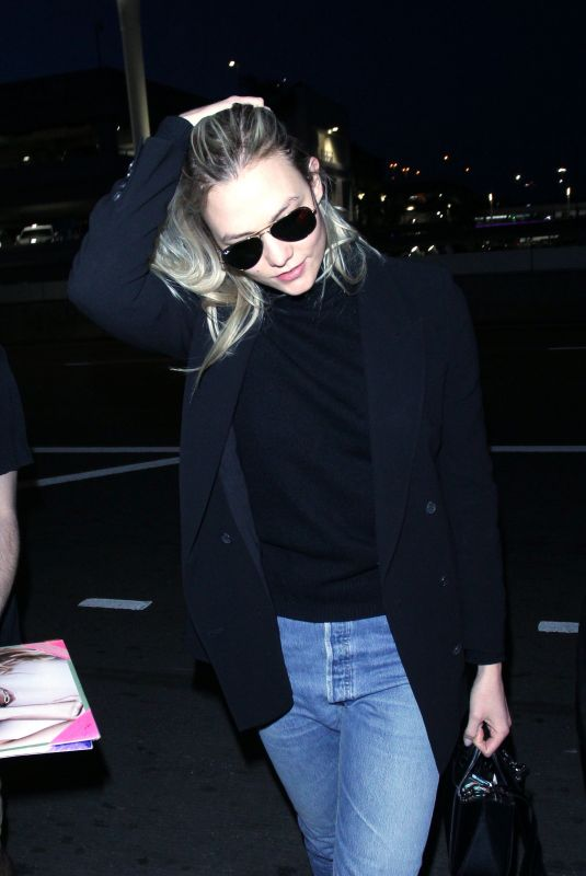 KARLIE KLOSS in Denim at Los Angeles International Airport 01/20/2018