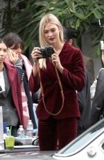 KARLIE KLOSS on the Set of a Photoshoot in Hollywood 01/19/2018