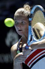 KAROLINA PLISKOVA at Australian Open Tennis Tournament in Melbourne 01/18/2018