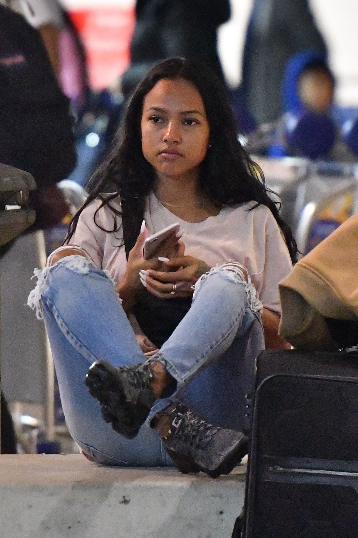 karrueche tran at lax airport in los angeles 03 01 2018 hawtcelebs