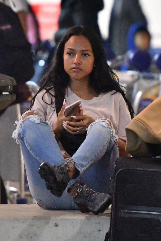 KARRUECHE TRAN at LAX Airport in Los Angeles 03/01/2018