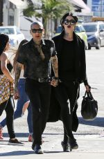KAT VON D and Leafar Reyes Out for Lunch in West Hollywood 01/28/2018