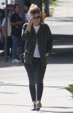 KATE MARA Heading to Cafe Gratitude for Lunch in Los Angeles 01/29/2018