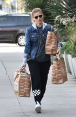 KATE MARA Shopping for Groceries at a Market in Los Angeles 01/17/2018
