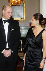 KATE MIDDLETON and Crown Princess VICTORIA of Sweden at a Dinner in Stockholm 01/30/2018