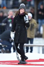 KATE MIDDLETON at a Bandy Hockey Match in Stockholm 01/30/2018