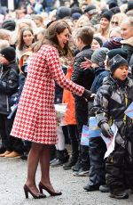 KATE MIDDLETON at Matteusskolan School in Stockholm 01/31/2018