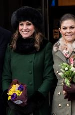 KATE MIDDLETON Out and About in Stockholm 01/30/2018