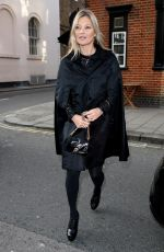 KATE MOSS Heading for Her 44th Birthday Lunch in Mayfair 01/16/2018