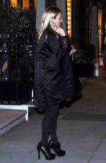 KATE MOSS Leaves a Private Members Club in London 01/16/2018