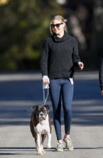 KATE UPTON Out with Her Dog in Los Angeles 01/11/2018