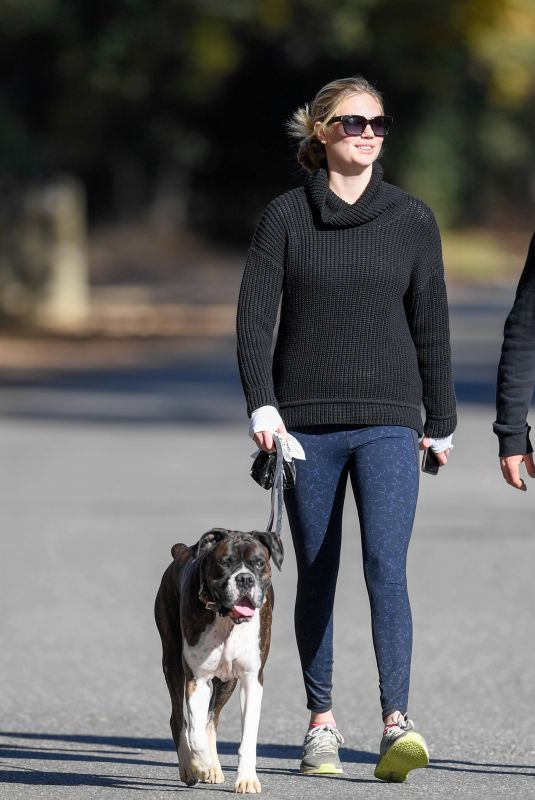KATE UPTON Walks Her Dog Out in Los Angeles 01/11/2018