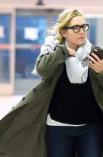 KATE WINSLET at JFK Airport in New York 01/24/2018