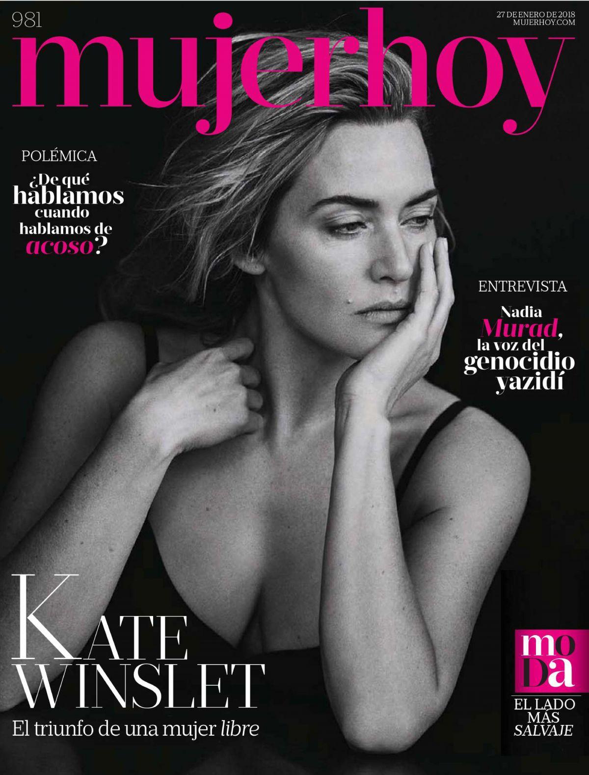 KATE WINSLET in Mujer Hoy Magazine, January 2018 - HawtCelebs