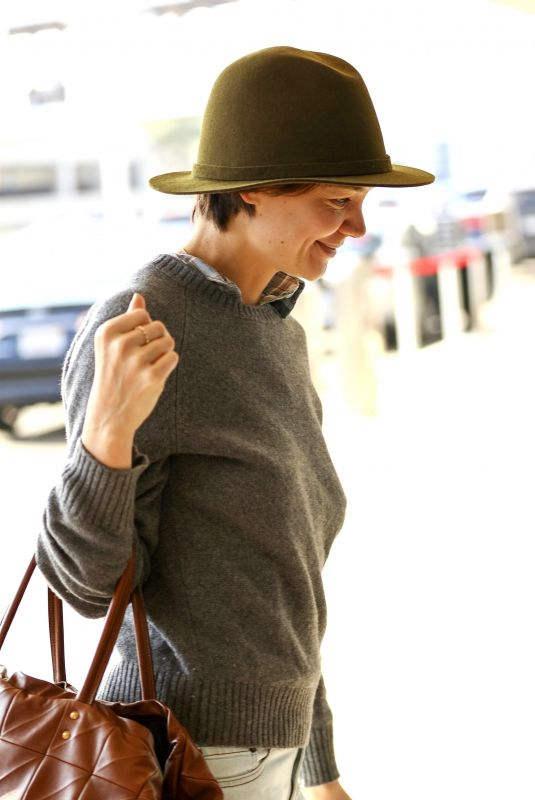 KATIE HOLMES at LAX Airport in Los Angeles 01/11/2018