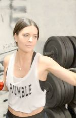 KATIE LEE Working Out at Rumble Boxing in New York 01/15/2018
