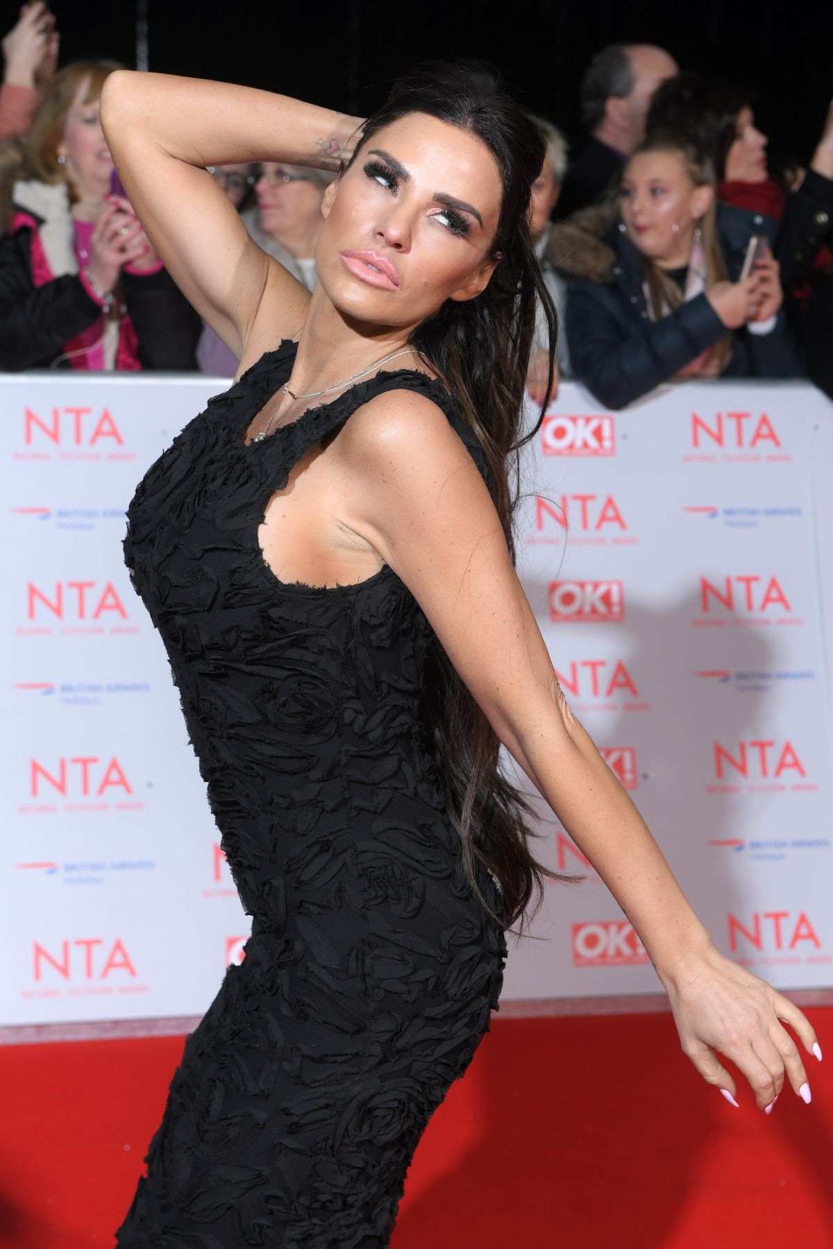 KATIE PRICE at National Television Awards in London 01/23