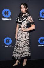 KATIE STEVENS at 2018 Freeform Summit in Hollywood 01/18/2018