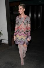 KATY PERRY Leaves Madeo Restaurant in West Hollywood 01/18/2018