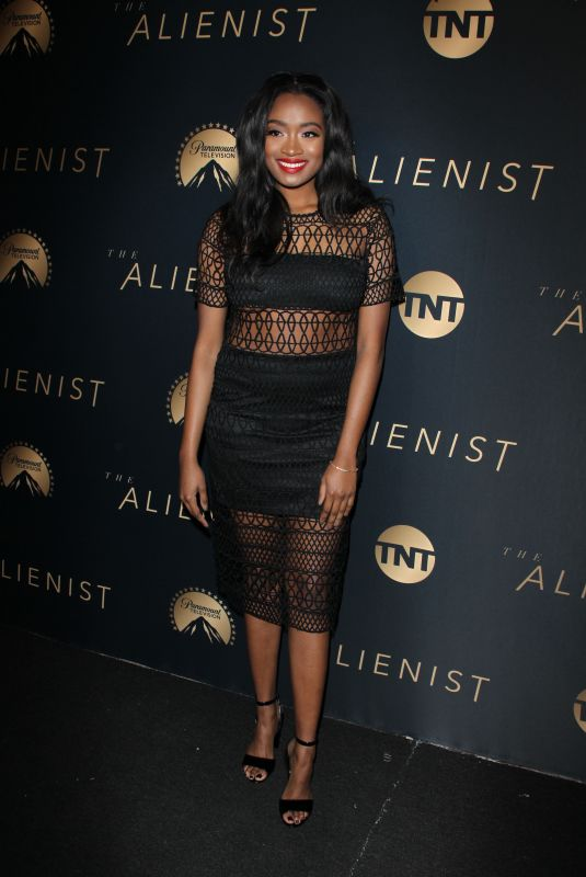 KAYLA BRIANNA at The Alienist Premiere in Los Angeles 01/11/2018