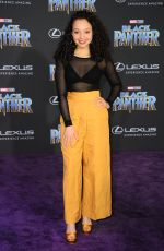 KAYLA MAISONET at Black Panther Premiere in Hollywood 01/29/2018