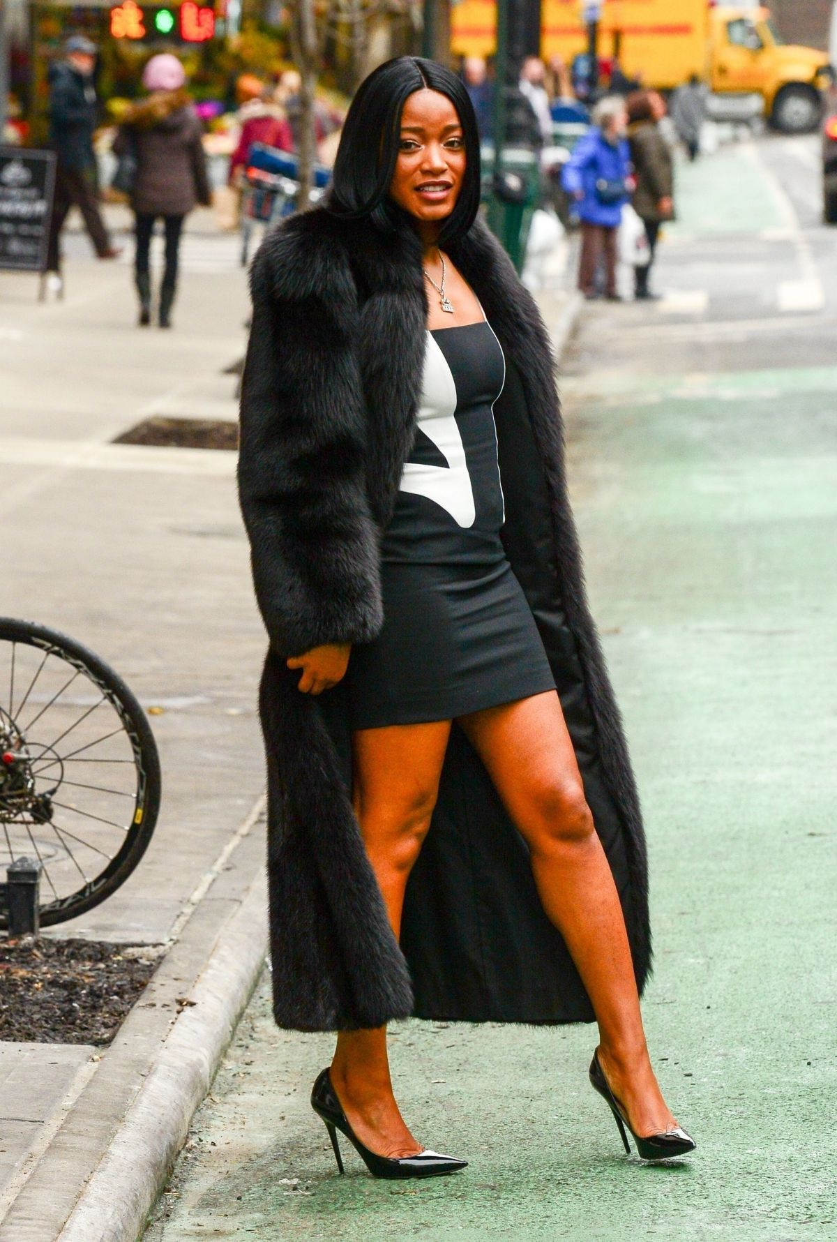KEKE PALMER Out and About in New York 01/13/2018 – HawtCelebsKeke Palmer Rolling Out
