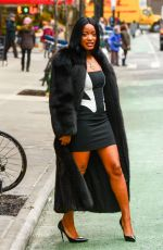 KEKE PALMER Out and About in New York 01/13/2018