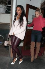 KELLY ROWLAND and JASMINE SANDERS at Madeo Restaurant in West Hollywood 01/21/2018
