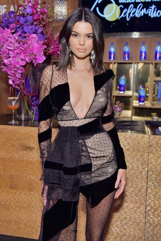 KENDALL JENNER at Official Viewing and After-party of Golden Globe Awards in Beverly Hills 01/07/2018