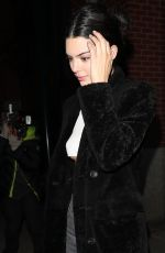 KENDALL JENNER Out for Dinner at Carbone in New York 01/26/2018