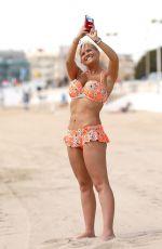 KERRY KATONA in Bikini on the Beach in Dubai 01/10/2018