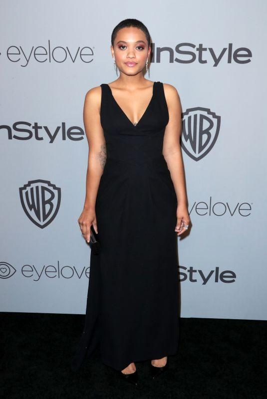 KIERSEY CLEMONS at Instyle and Warner Bros Golden Globes After-party in Los Angeles 01/07/2018