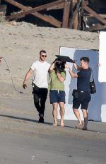 KIM KARDASHIAN on the Set of a Photoshoot at a Beach in Malibu 01/22/2018