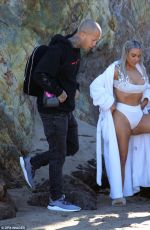 KIM KARDASHIAN on the Set of a Photoshoot at a Beach in Malibu 01/29/2018