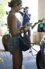 KIMBERLEY GARNER in Bikini Top and Shorts Out in Barbados 01/03/2018