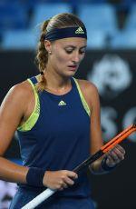 KRISTINA MLADENOVIC at Australian Open Tennis Tournament in Melbourne 01/16/2018