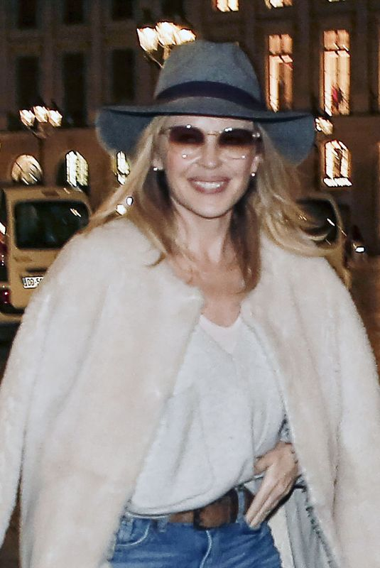 KYLIE MINOGUE Out and About in Paris 01/15/2018