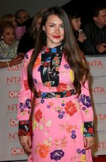 LACEY TURNER at National Television Awards in London 01/23/2018