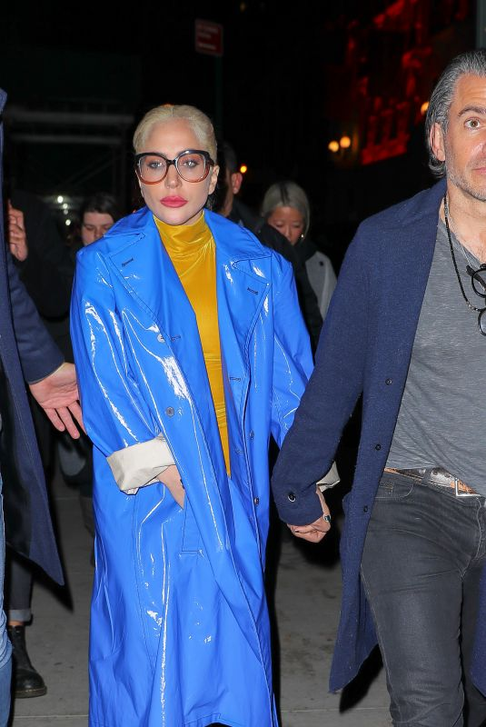 LADY GAGA Leaves Marta Italian Restaurant in New York 01/27/2018