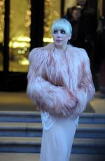 LADY GAGA Leaves Palazzo Parigi Hotel in Milan 01/18/2018