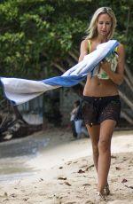 LADY VICTIRIA HERVEY in Bikni on the Beach in Barbados 12/31/2017