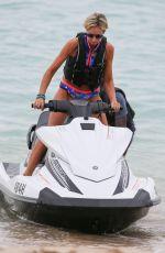 LADY VICTORIA HERVEY Jet Skiing in Barbados 12/31/2017